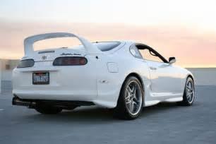 White Toyota Supra