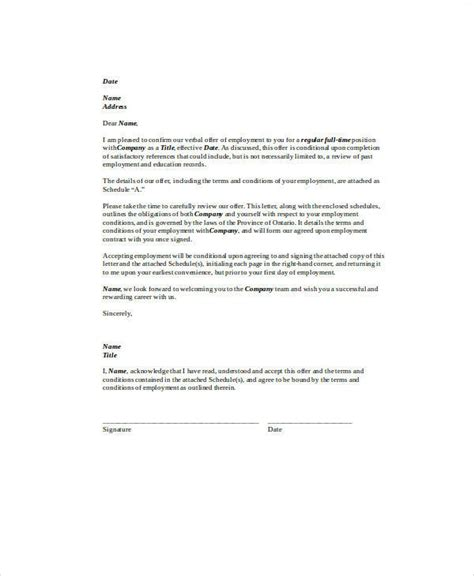 agreement letter examples   ms word