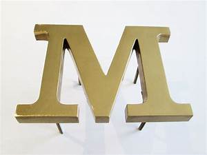polished bronze face cast metal letters metal letters With bronze metal letters
