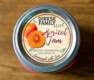 customized label apricot jam jelly preserves canning With custom jelly jar labels