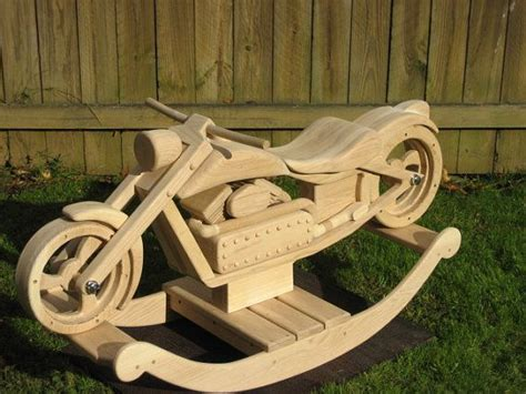chace  chopper custom designed wooden motorcycle rocker boys rockers  design