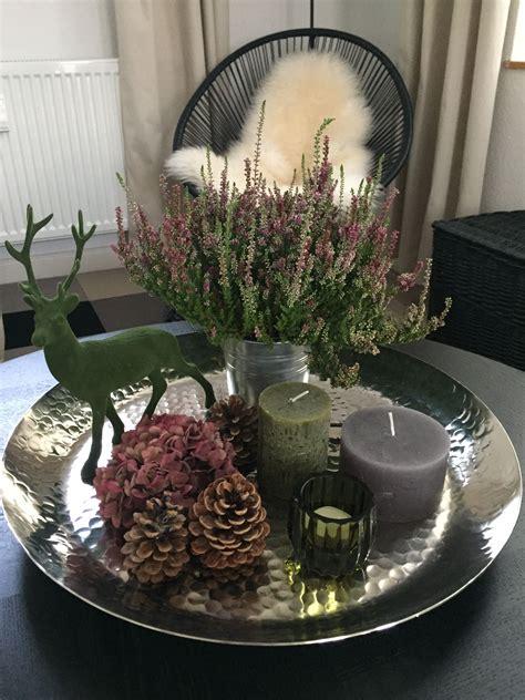 herbstdeko tablett herbst dekoration herbst dekor und