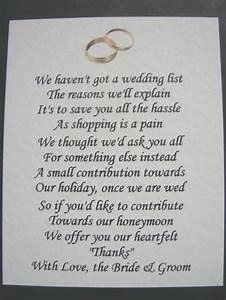 40 wedding poems asking for money gifts not presents ref for What to give as a wedding gift