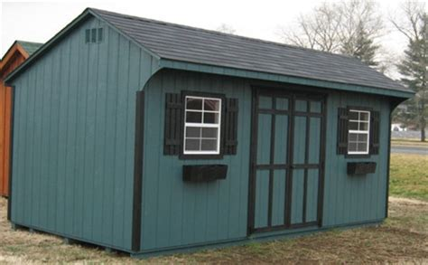 10x20 Quaker Wood Shed Kit