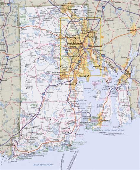 rhode island road map