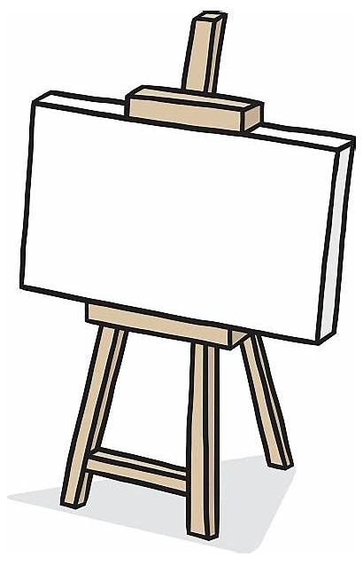Canvas Easel Clip Blank Empty Sketch Wooden