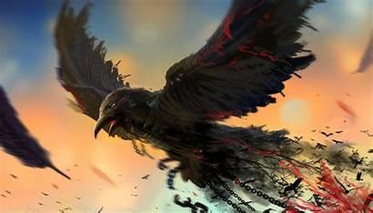Raven Artwork Wallpapers Bird Digital Artist 4k