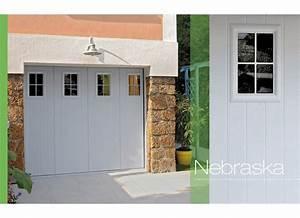 Porte de garage nebraska coulissante exterieur for Porte de garage coulissante avec porte de service pvc occasion