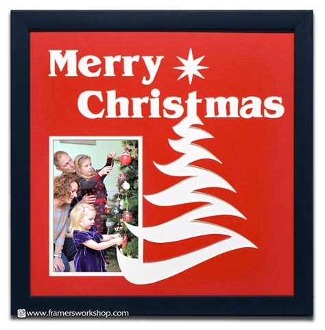 merry christmas pre cut photo name mat at the framer s workshop berkeley ca 94704