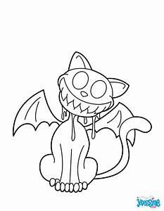 Dessin Halloween Vampire : coloriages chat vampire souriant ~ Carolinahurricanesstore.com Idées de Décoration