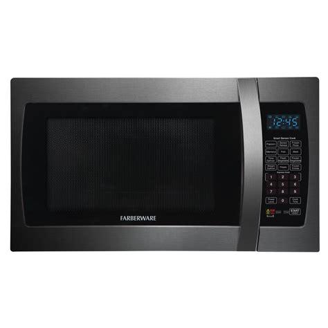 Stainless Steel Countertop Microwave by Farberware Black 1 3 Cu Ft 1100 Watt Countertop