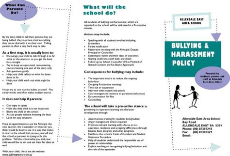 Bullying And Harassment Policy Template Images Template Bullying And Harassment Policy For Free