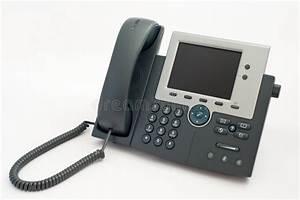 Modern Telephone On White Stock Photo  Image Of Keypad