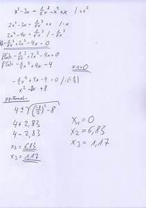 Nullstellen Berechnen Ausklammern : bestimmen der schnittstellen der funktionen onlinemathe das mathe forum ~ Themetempest.com Abrechnung