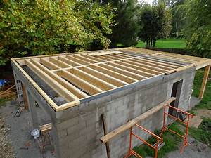 garage parpaing toit plat maison francois fabie With garage bois ou parpaing