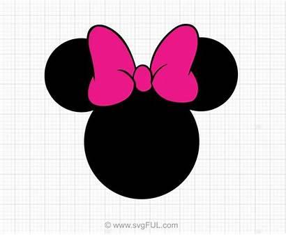 Minnie Mouse Cricut Svg Bow Head Silhouette