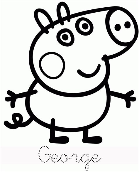 printable peppa pig coloring pages coloring home