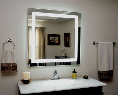 Wall Bathroom Mirrors by Lighted Vanity Mirror Led Lighted Wall Mounted Mam83636