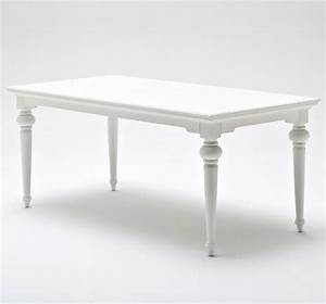 Table 180 Cm : provence white rectangular dining table 180 cm durable ~ Teatrodelosmanantiales.com Idées de Décoration