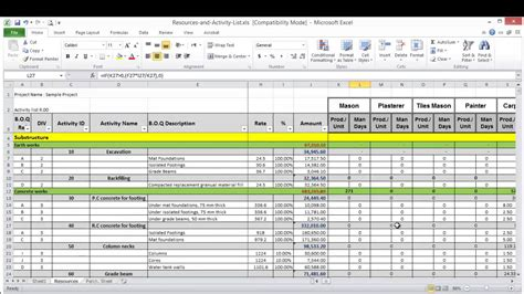 Project Forecasting Template by Lesson 8 Part 2 Create Resource Loading Sheet On Excel