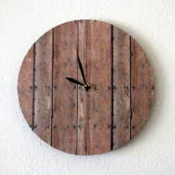 Unique Wood Wall Clocks
