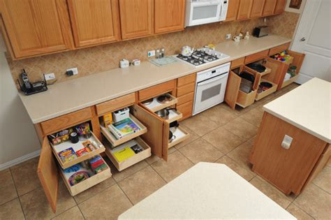 kitchen cabinet organizers pull out shelves make the most of your kitchen storage with these 7 tips 9125