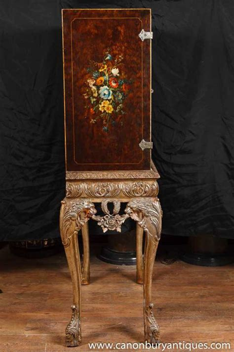 painted antique victorian mahogany cabinet stand cocktail