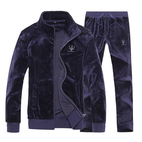 Free Shipping Women Casual Velvet Tracksuit Men Sportswear Velour Sport Suit Ladies Mens Velour ...