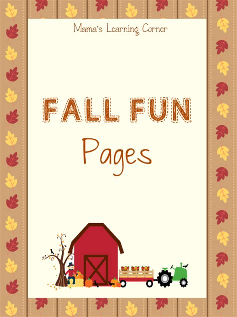 fall fun pages worksheet packet  pages  fall