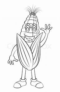 Corn On The Cob Cartoon Black And White | www.imgkid.com ...