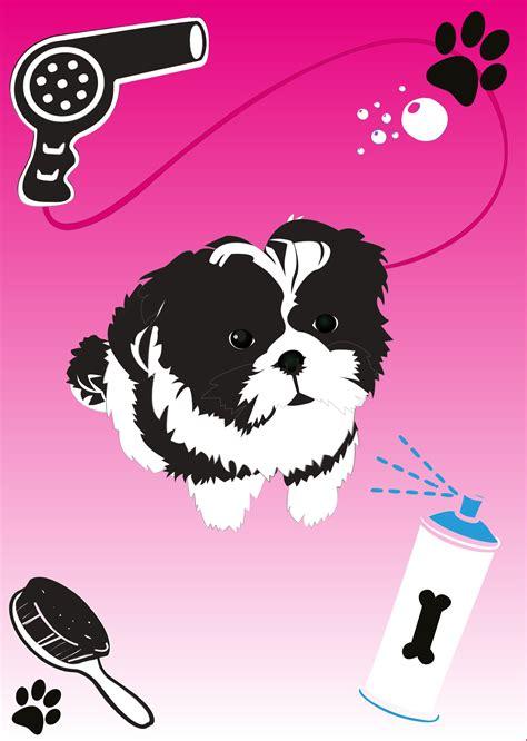 Shih Tzu Puppy Vector Download Free Vector Art Stock Graphics Images