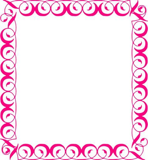 Stylish,pink,border Clip Art At Clkercom  Vector Clip