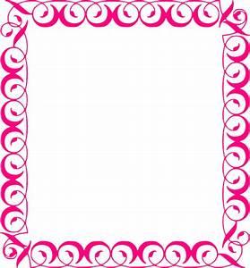 Stylish,pink,border Clip Art at Clker.com - vector clip ...