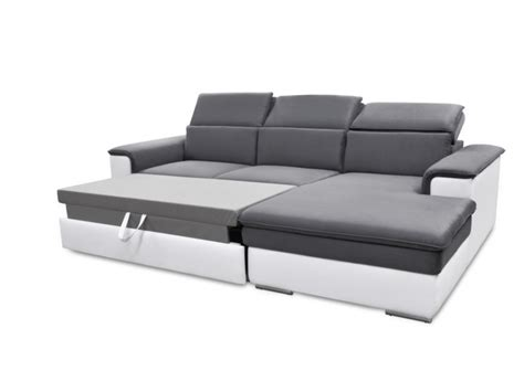 photo de canapé canapé d 39 angle convertible avec têtières 3 coloris connor