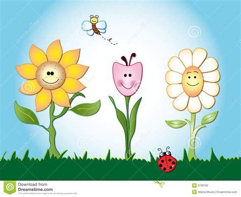 Flowers Cartoon Stock Illustration. Image Of Botanical