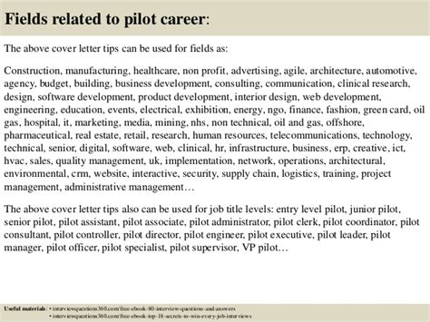 Pilot Cover Letter by Top 10 Pilot Cover Letter Tips