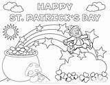 Leprechaun Coloring Rainbow Pages Pot Gold Printable Getdrawings sketch template