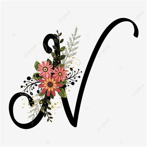 alphabet letter   flowers vintage text effect eps