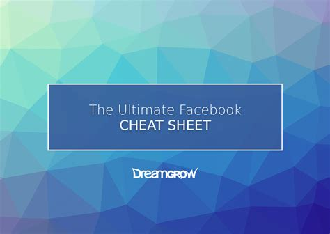 facebook cheat sheet  image sizes dimensions