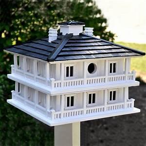 Club, House, White, Birdhouse