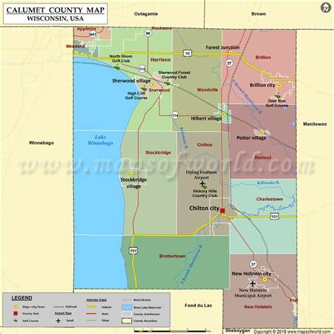 Calumet County Map, Wisconsin