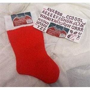 Christmas personalizable christmas stocking iron on for Iron on letters for stockings