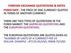 Foreign exchang... Rate Quotes