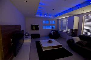 Living room interior gallery for Led lights for living room