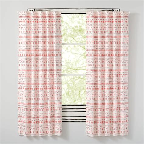 excursion pink curtains the land of nod