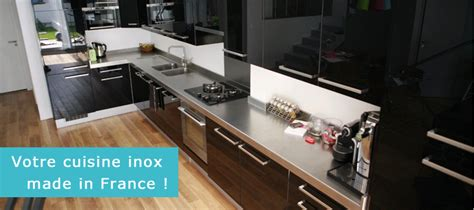 cuisine inox particulier fabricant plan de travail inox sur mesure finox