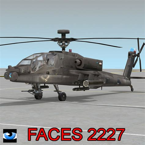 Max Army Ah 64 Apache Attack Helicopter
