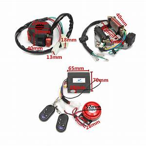 Security Alarm System Wiring Harness Coil Cdi Engine 50cc
