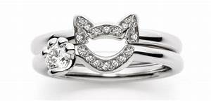 cat wedding and engagement rings by japanese design house With cat wedding ring