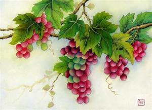 Grapes Painting by Hailey E Herrera